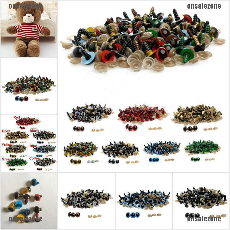 {onsalezone} 100pcs 8mm Plastic Safety Eyes For Teddy Bear Doll Animal Puppet Craft adover