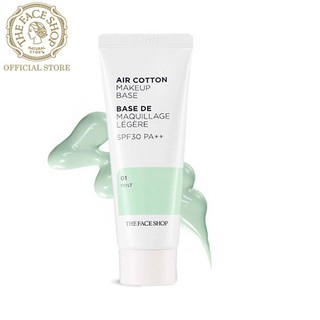 Kem Lót TheFaceShop Air Cotton Make Up Base Spf30 Pa++ 01 Mint 40ml