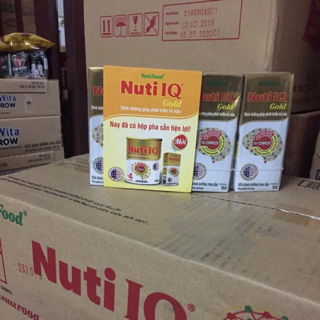 Sữa dinh dưỡng pha sẳn nutiIQ Gold 180ml
