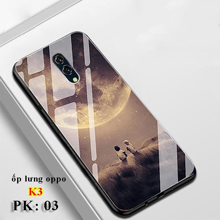 [Mẫu Mới Cực Hot] Ốp Oppo K3 in hoa 3D sang trọng, mặt kính chống trầy xước, Vỏ lưng điện thoại Oppo K3 cao cấp, giá rẻ