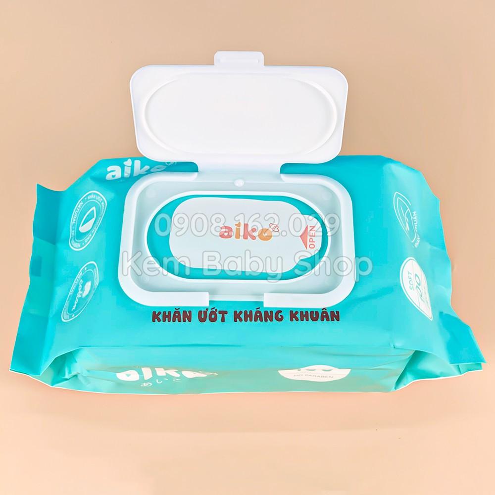 Khăn giấy ướt Aiko 100 tờ - Khăn ướt kháng khuẩn cho bé Aiko 100 tờ