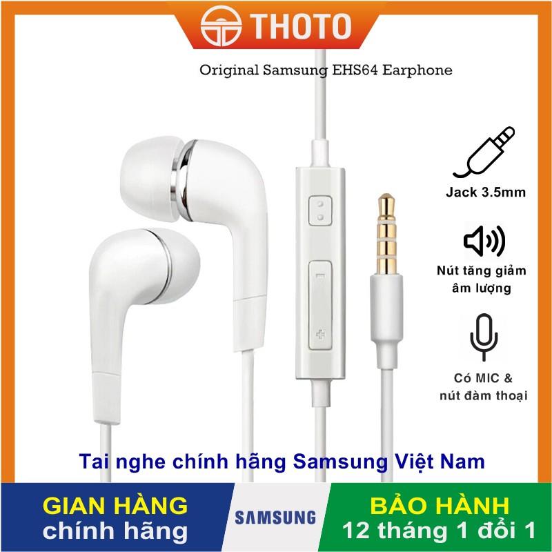 [Thoto Store] Tai nghe Galaxy A70   A71 zin bóc máy chính hãng SSVN - Nhét tai, có dây, kèm MIC, dùng các máy jack 3.5mm