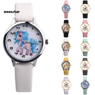 Đồng hồ nữ dây da mặt hình ngựa một sừng dễ thương thumbnail