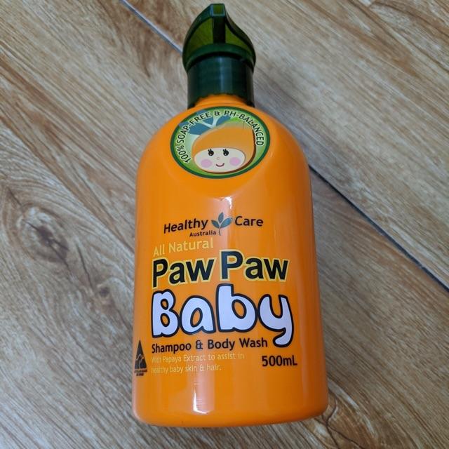 Sữa tắm gội toàn thân Paw Paw baby 500ml