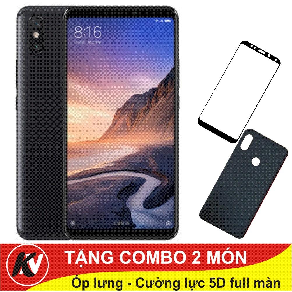 Combo Điện thoại Xiaomi Mi Max 3, Mimax 3, Mimax3 - 64GB Ram 4GB + Ốp lưng + Cường lực full màn 5D