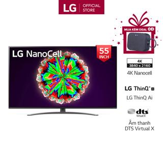 """[Mã ELCE2TR giảm 6% đơn 200K] Smart Tivi NanoCell LG 4K 55 inch 55NANO81TNA - Model 2020 - Miễn phí lắp đặt giá chỉ còn <strong class=""""price"""">1.429.000.000.000đ</strong>"""