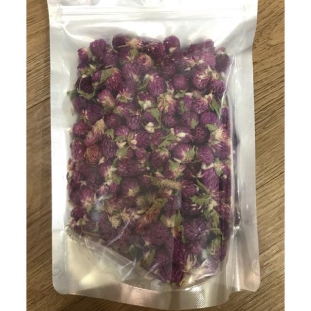 Giá tôt Hoa cúc bách nhật tím sấy khô 100g loại đẹp