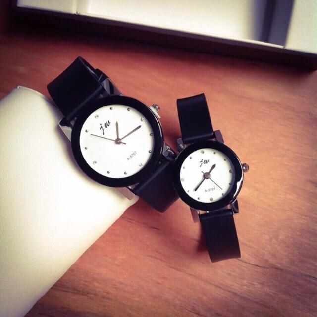 [Giá sỉ] Đồng hồ cặp nam nữ teen Jw L5098 dây cao su 2 màu