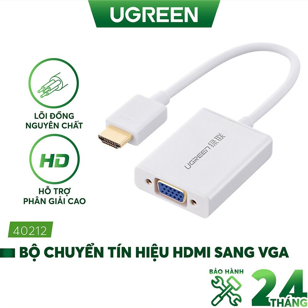 Bộ chuyển tín hiệu HDMI sang VGA kèm theo âm thanh dài 15CM UGREEN MM102