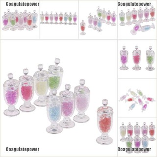 Coagulatepower 1/12 Dollhouse Miniature Mini Resin Candy Jar Simulation Candy Bottle Model Toy