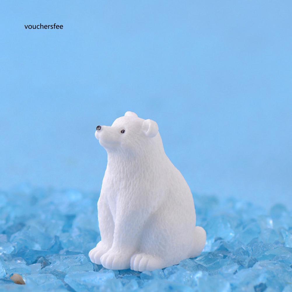 Set 2 mô hình gấu xinh xắn bằng nhựa dùng để trang trí tiểu cảnh / cây cảnh