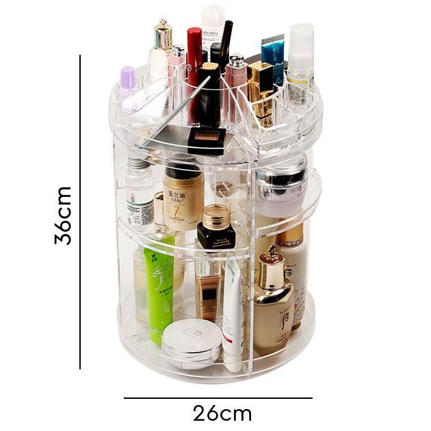 Kệ đựng mỹ phẩm xoay 360 độ bằng nhựa trong suốt - 3153818 , 1253600136 , 322_1253600136 , 158000 , Ke-dung-my-pham-xoay-360-do-bang-nhua-trong-suot-322_1253600136 , shopee.vn , Kệ đựng mỹ phẩm xoay 360 độ bằng nhựa trong suốt