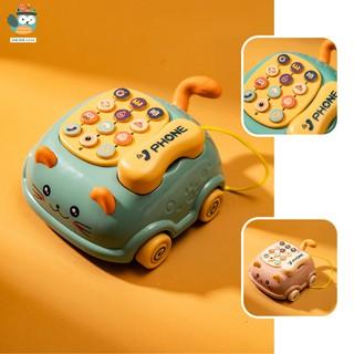 Điện thoại đồ chơi cho bé, đồ chơi phát nhạc cho trẻ từ 0-3 tuổi - giáo dục sớm [Mã FASHION10K hoàn 10K xu đơn 0Đ] thumbnail