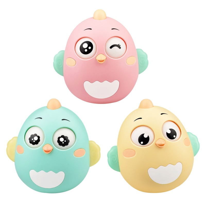 Baby Newborn Toys Nodding Tumbler Toys For Kid Ring Bell Cute Roly-poly