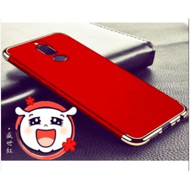 ốp lưng 3 mảnh Huawei Nova 2i nhung mịn chống vân tay - Đỏ