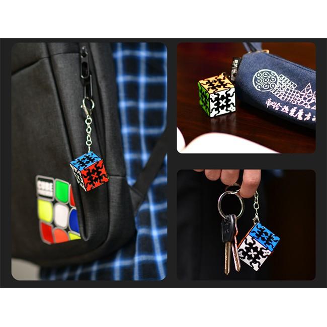 Móc Khóa Rubik Gear 3x3 Keychain