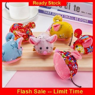 Ready Stock❤️ 9cm Lucu Hoa Vải Rat Doll Aksesoris Mặt dây chuyền túi đồ chơi sang trọng