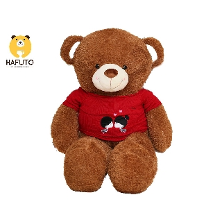 Gấu bông Teddy mặc áo len kiss HAFUTO size 1m