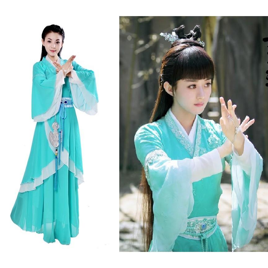 Trang phục cổ trang cosplay Bích Dao - Tru Tiên Thanh Vân chí (Triệu Lệ Dĩnh), phụ kiện cổ trang, Hán phục (H