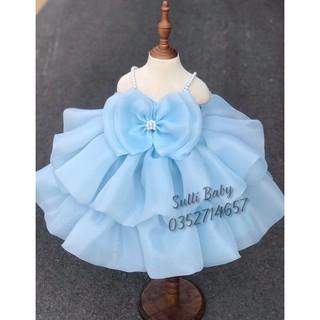 [Hàng cao cấp]Đầm tầng công chúa bé gái (tặng nơ xinh)
