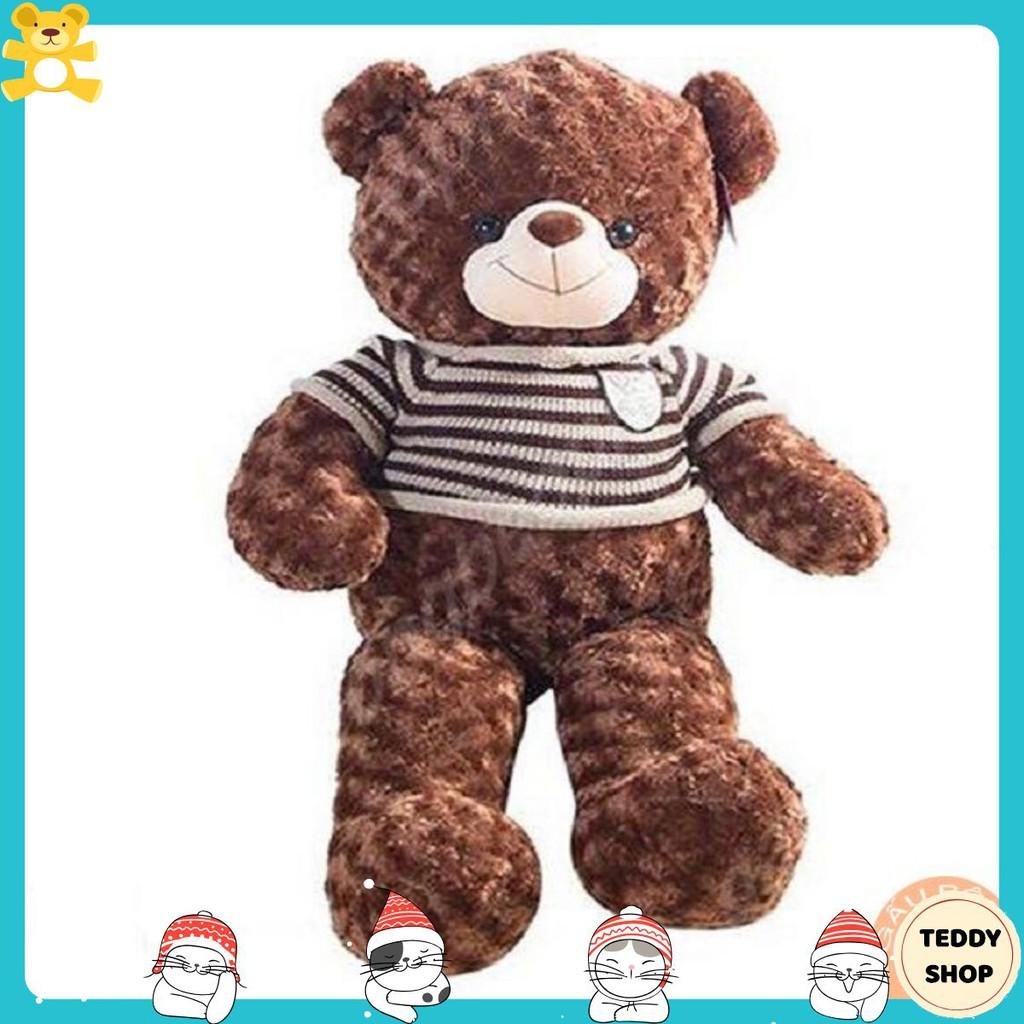 (Ảnh thật trong video )Gấu bông teddy khổ vải 80cm cao 60cm hàng cao cấp – TeddyShop