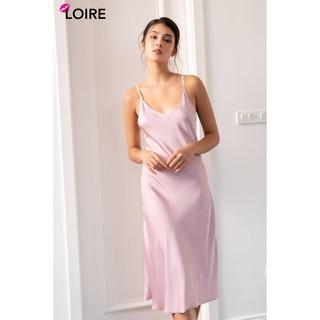 Váy 2 Dây Lụa Cao Cấp Cổ Tim LOIRECHIC LSL04 thumbnail