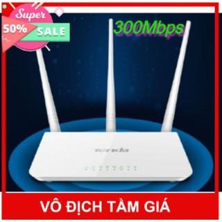 Bộ phát wifi Tenda F3 300Mbs.Kèm củ nguồn.Tiếng Anh-Trung