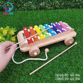 Đàn xylophone có bánh xe kéo