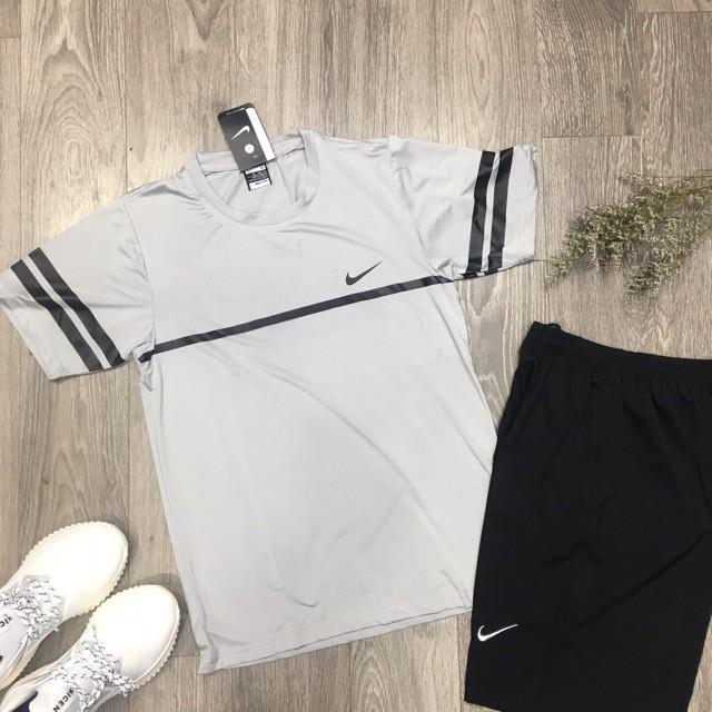 [HOT 2019] Bộ Thể Thao Thun Lạnh Nike Kẻ Phối Viền