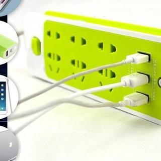 [HOT] Ổ điện chống giật | 6 ổ cắm 3 cổng USB | tiện lợi, tiết kiệm diện tích