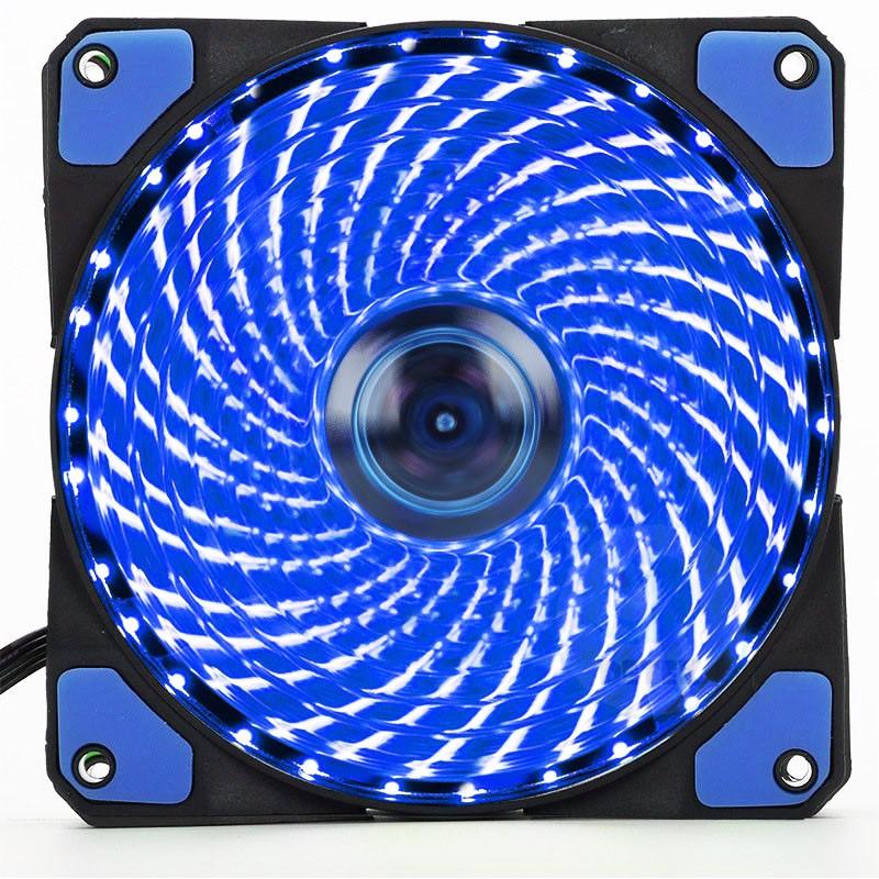 Quạt thông gió Fan mod case 12cm -36 led xanh kèm ốc
