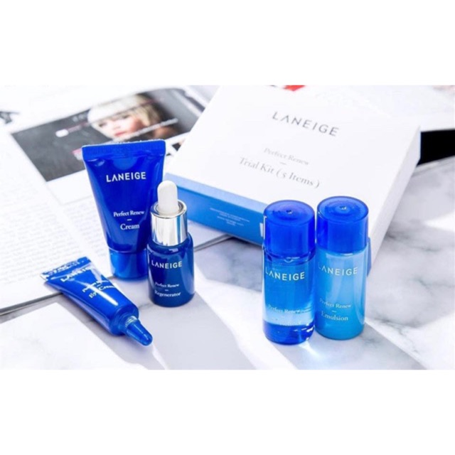 [100% AUTH] Bộ Kit Dưỡng Da Laneige Perfect Renew Trial Kit 5 Items