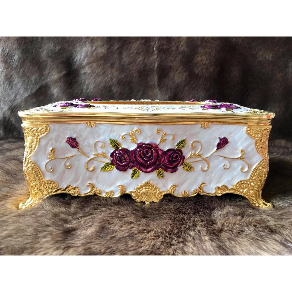 Hộp đựng khăn giấy chữ nhật Hợp kim Mạ vàng Bông tím Hoàng gia Thái Lan - 3479116 , 775533820 , 322_775533820 , 520000 , Hop-dung-khan-giay-chu-nhat-Hop-kim-Ma-vang-Bong-tim-Hoang-gia-Thai-Lan-322_775533820 , shopee.vn , Hộp đựng khăn giấy chữ nhật Hợp kim Mạ vàng Bông tím Hoàng gia Thái Lan