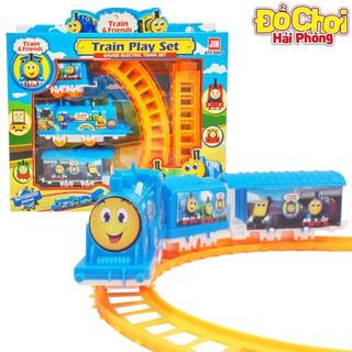 Bộ đồ chơi trẻ em Lắp ráp đường ray tàu hỏa Thomas nhiều chi tiết Đồchơitrẻem (hình thật, có sẵn)