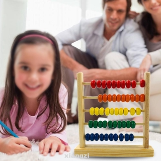 Colorful Preschool Intellectual Development Recognition Numbers Counting Arithmetic Ability Mini Wooden Abacus