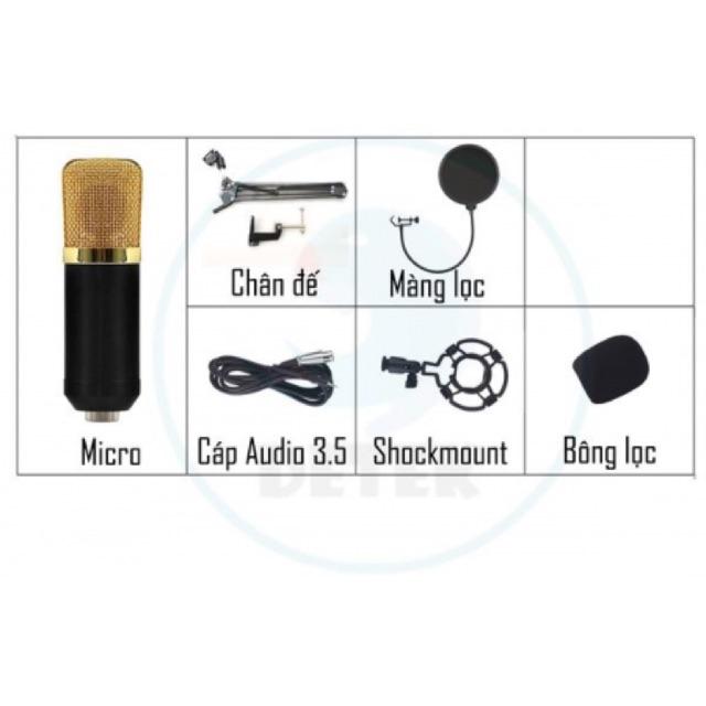 [SALE 10%] Bộ micro K600 thu âm Livestream kèm chân đế và màng lọc âm