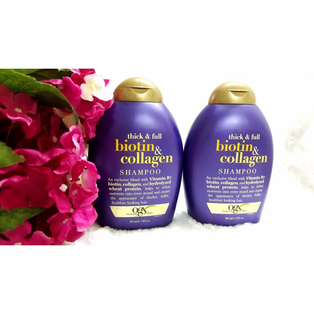 Bộ gội xả chống rụng tóc Biotin collagen