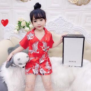 Bộ lụa Satin Cho Bé Size 8-28 kg M,Bộ Lụa Cao Cấp Hàng Loại 1 Cho Bé