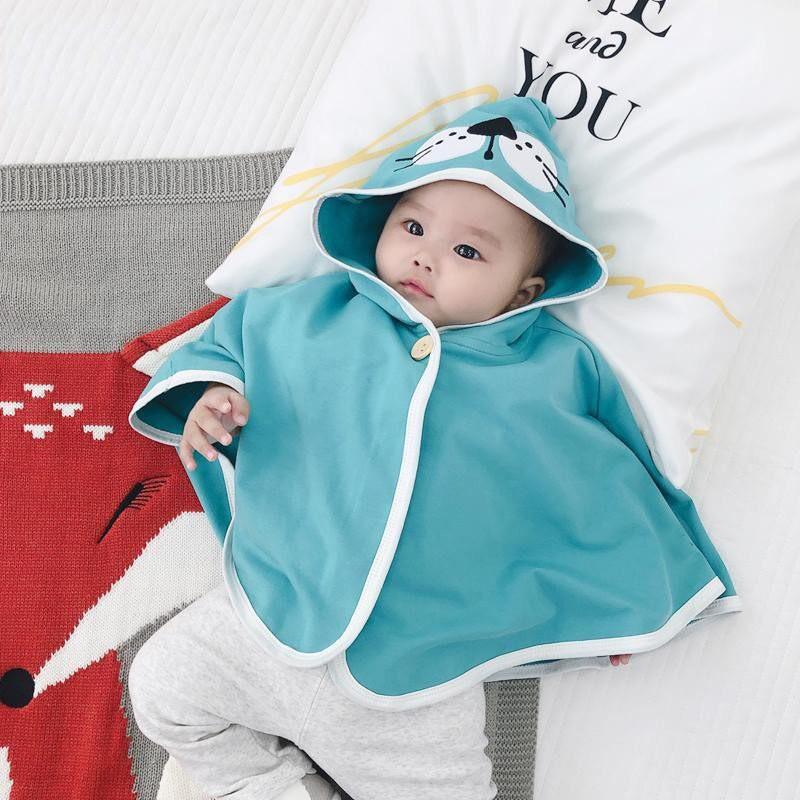 Áo choàng chống nắng bé trai bé gái hình thú cho bé mặc khoác ngoài 8-21kg QATE613