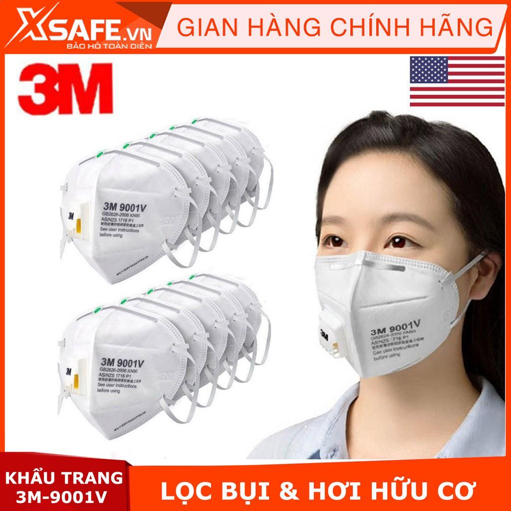 Khẩu trang lọc bụi 3M 9001V - chống bụi PM 2.5 - màng lọc tĩnh điện
