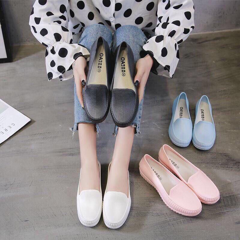 Giày Moca giày nhựa đi mưa màu nhiều màu - GN09