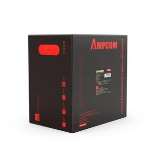 Dây cáp mạng UTP CAT5E AMPCOM, cuộn 305m tiết diện 0.4mm ±0.02 AMPC5E04GR- Hàng chính hãng