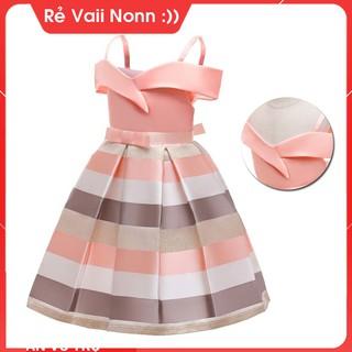 Đầm công chúa bé gái (14kg - 40kg)-Váy đầm công chúa cho bé gái dễ thương- đầm trễ vai bé gái AT410 thumbnail