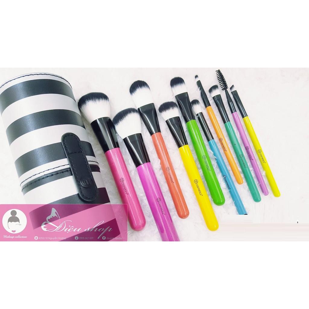 Bộ cọ trang điểm 10 cây Pop Art Brush Set BH COSMETICS