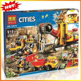 Đồ Chơi NOT Lego Ninjago City 10876 Xếp Hình Công Trường Khai Thác Mỏ 989 khối. Quà Cao Cấp Cho Bé Trai. hàng Quảng Châu