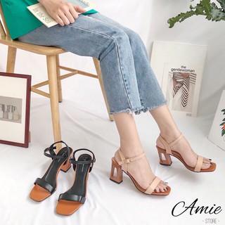 Dép nữ, dép sandal thời trang nữ quai ngang đế vuông phối cách điệu 7cm siêu hót trend của năm