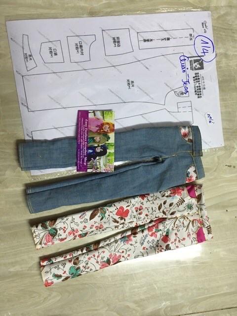 Rạp may quần áo,đầm cho bbe 1/3,1/4,1/6,1/8 ,ob11 trên giấy A4