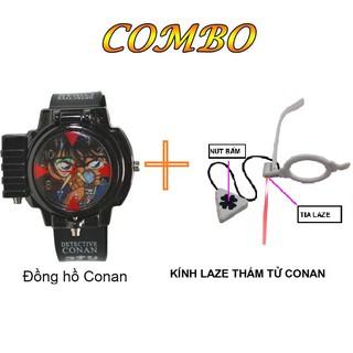 Đồng hồ Conan đeo tay bắn laser và kính laze thám tử conan