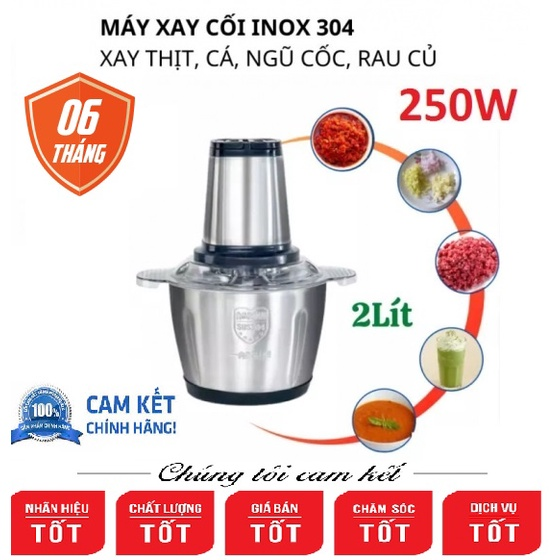 MÁY XAY ĐA NĂNG CỐI INOX 2 LÍT FOOD PROCESSOR HDA CÔNG SUẤT 250W