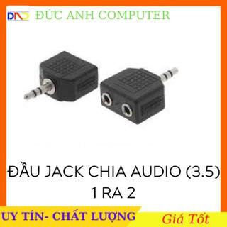 Đầu jack chia âm thanh cổng 3.5 mm 1 ra 2 cổng 3.5mm